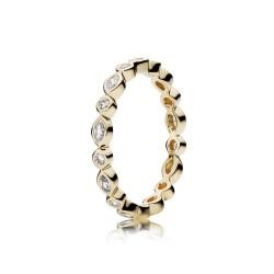 Pierścionek Pandora z 14-karatowego złota 150183CZ Elegant Marquise Band