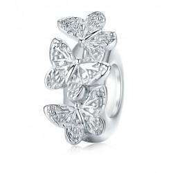 Charms stoper srebrne motyle, srebro 925