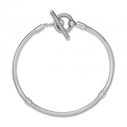 Bransoletka Pandora Moments o splocie wężykowym z zapięciem T 599082c00