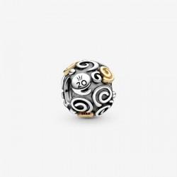 Charms serpentya na 20-lecie Pandora Moments B82010EN two tones srebro 925 i złoto 585