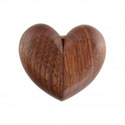 Eleganckie drewniane pudełko serce na pierścionek zaręczynowy