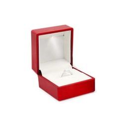 Eleganckie pudełko na pierścionek zaręczynowy serce podświetlane LED, różne kolory