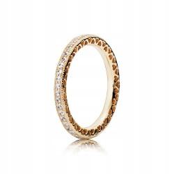 Pierścionek Pandora z 14-karatowego złota 150181CZ, złota obrączka 585