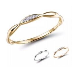 Złoty pierścionek LOVE PODS złoto 585, diamenty